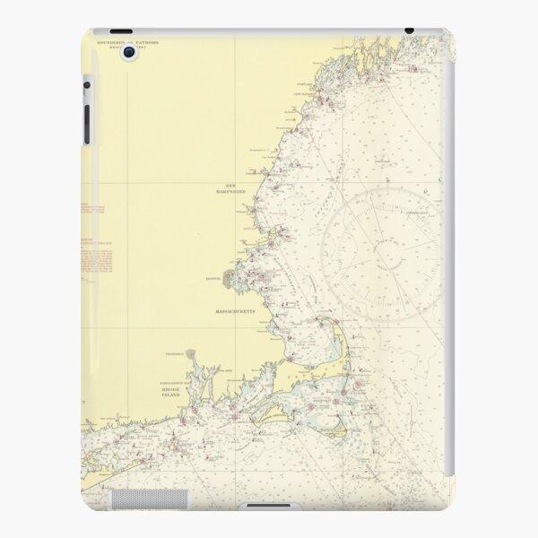 Vintage Map of The New England Coast (1943) iPad Snap Case