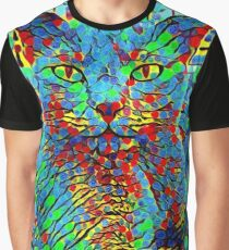 CAT POINT PAINTING Graphic T-Shirt