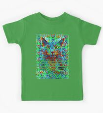 CAT POINT PAINTING Kids Tee