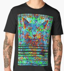 CAT POINT PAINTING Männer Premium T-Shirts