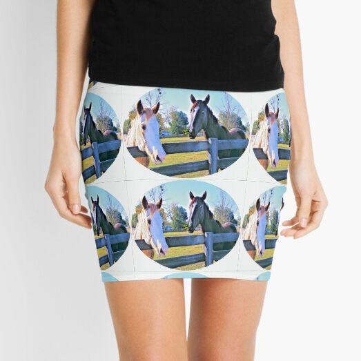 Horse Neigh-bors Mini Skirt