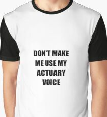 Actuary Gift for Coworkers Funny Present Idea Graphic T-Shirt