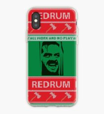 All Work and No Play Ugly Christmas Sweater iPhone Case