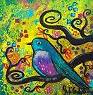 Bird V~Golden Sunrise by Juli Cady Ryan