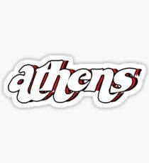 Retro Athen-Aufkleber Sticker