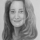 Karen in pencil by John Weakly