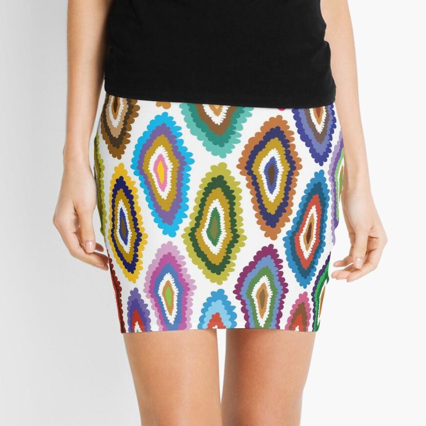DIAMOND BLOT Mini Skirt