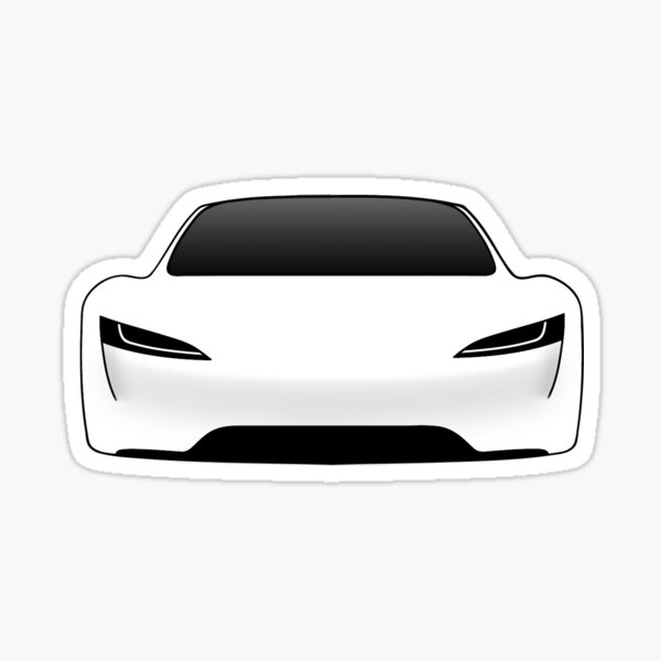 Tesla Roadster - Blanc Sticker