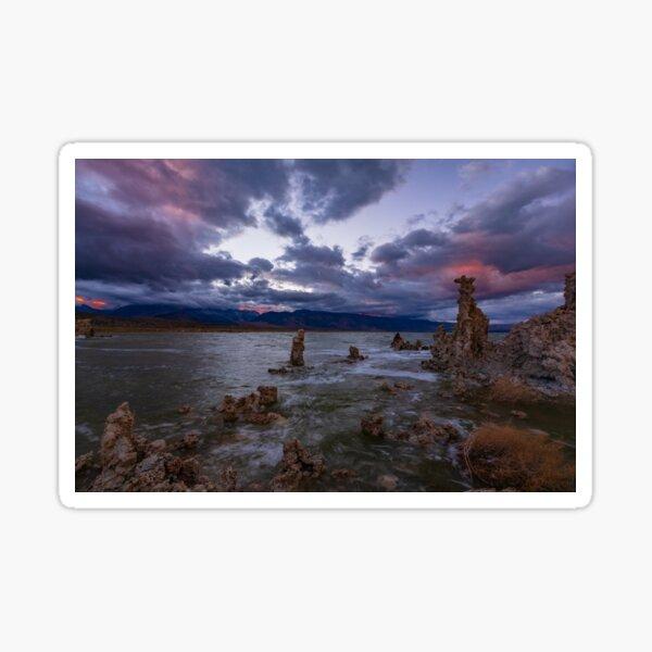 Mono Lake South Tufa, Sierra Sunset Sticker