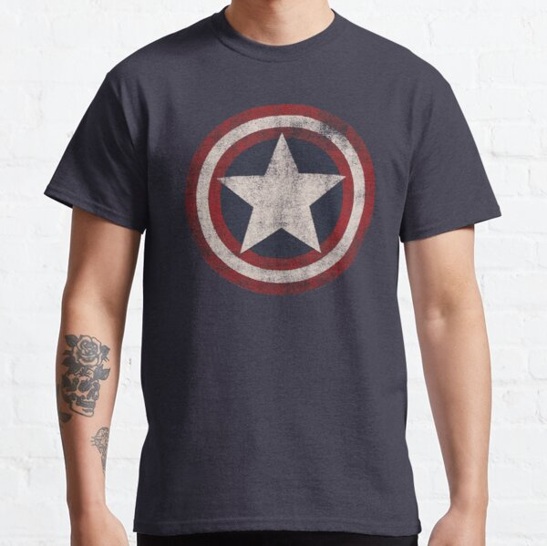 America Hero Shield- Usa flag Classic T-Shirt