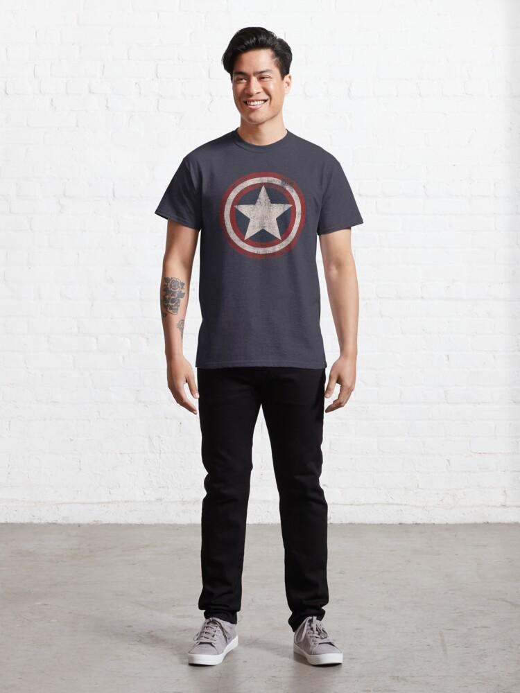 Alternate view of America Hero Shield- Usa flag Classic T-Shirt