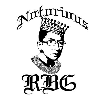 NOTORIOUS RBG Ruth Bader Ginsburg SCOTUS Feminist Icon Crown by starkle
