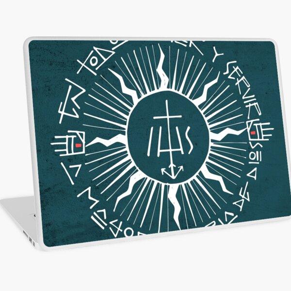 Religious christian jesuit symbol illustration Laptop Skin