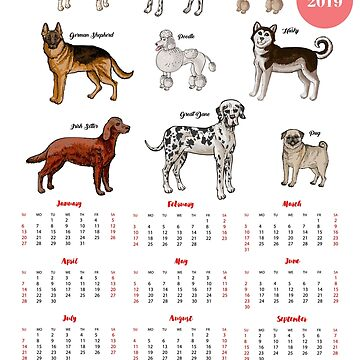 Calendar 2019 Dogs Sketches I by piacheva