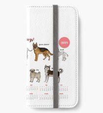 Calendar 2019 Dogs Sketches II iPhone Wallet/Case/Skin