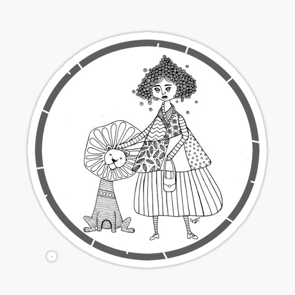Brave Woman Illustration Sticker