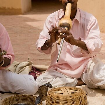 India, Rajasthan, Jaipur, Amber fort built 1592 snake charmers by PhotoStock-Isra