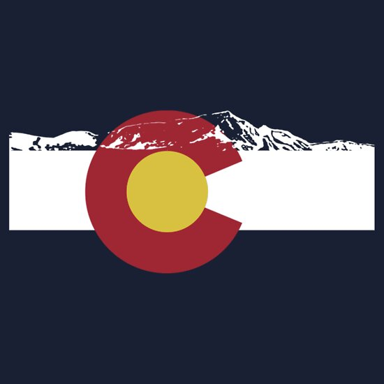 TShirtGifter presents: Rocky Mountains - Colorado Flag