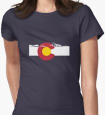 Rocky Mountains - Colorado Flag Women's Fitted T-Shirt