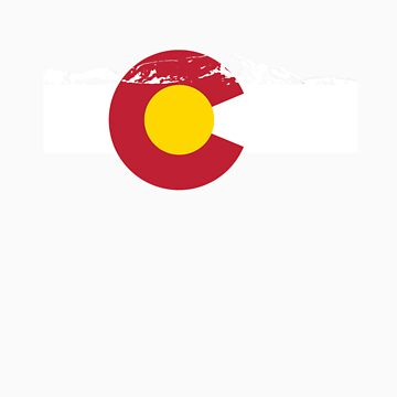 Rocky Mountains - Colorado Flag by FlagSilhouettes