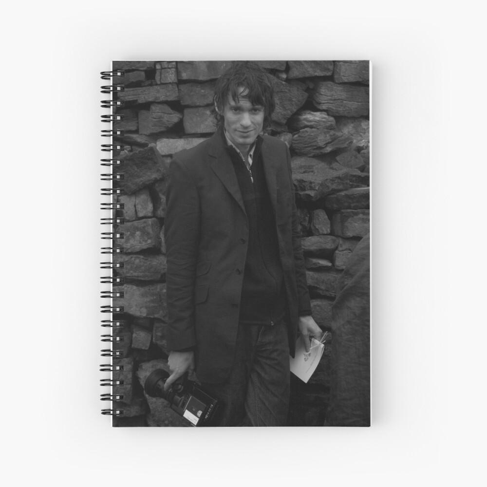Andrew as Filmmaker # 2 - Unposed Portrait Spiral Notebook