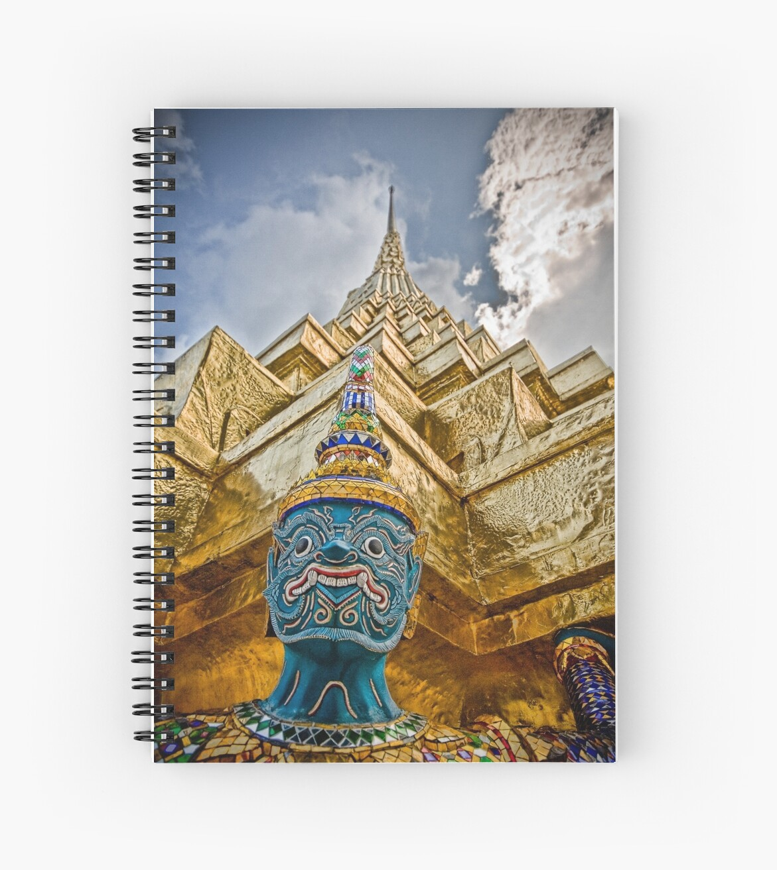 Temple & Monkey - Grand Palace, Bangkok Thailand by Kelly McGill