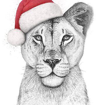 Christmas Lioness by kodamorkovkart