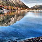 Lake Walchensee in December by Daidalos