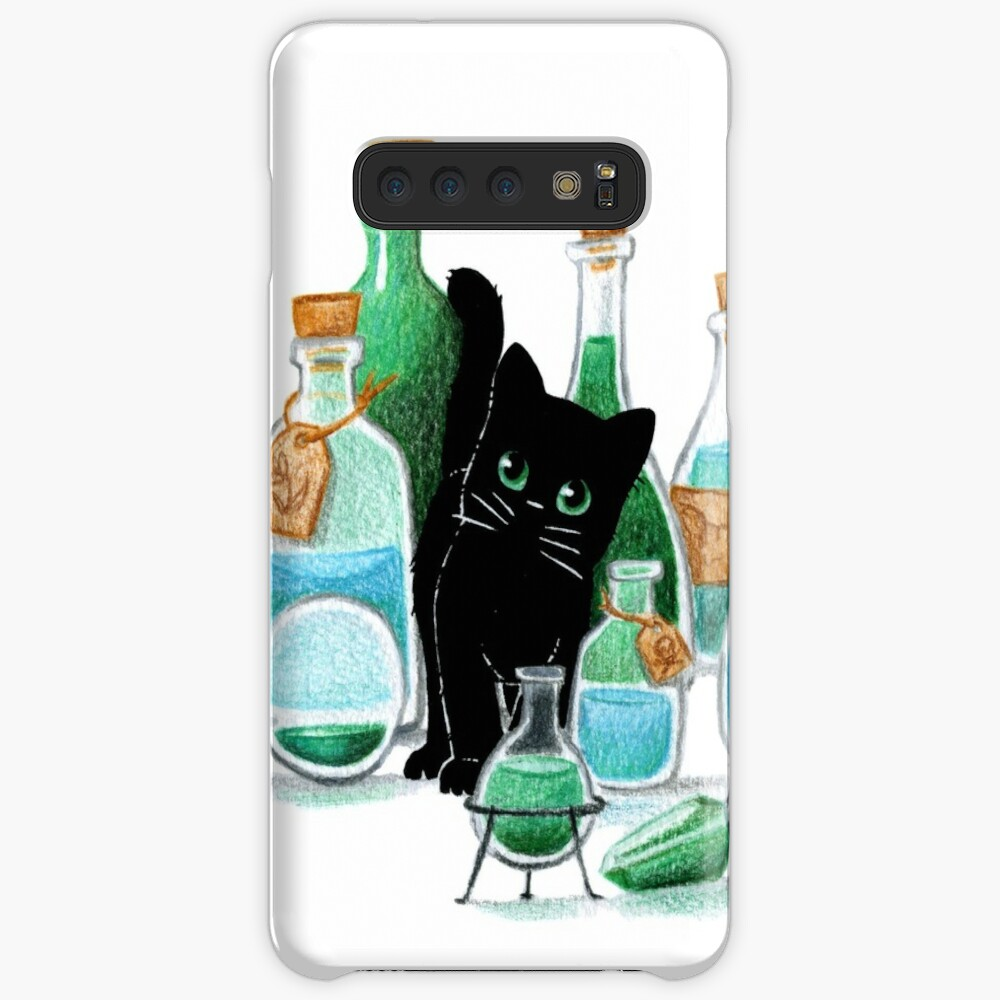 Black Cat & Potions Cases & Skins for Samsung Galaxy