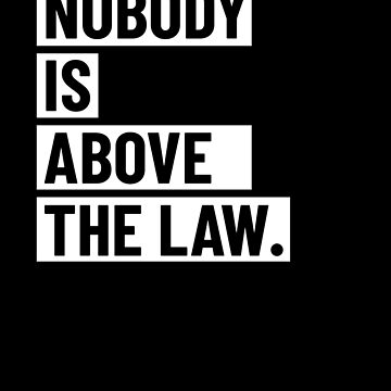 Nobody Is Above The Law by hadicazvysavaca