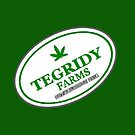 TEGRIDY FARMS - 100% HEMP TEGRIDY FARMS PARODY FUN DESIGN LOGO  by Iskybibblle
