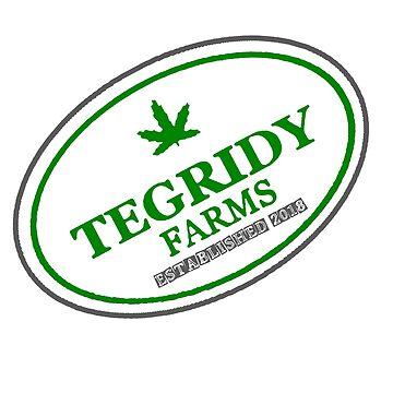 TEGRIDY FARMS - 100% HEMP TEGRIDY FARMS PARODY FUN DESIGN LOGO  by Iskybibblle