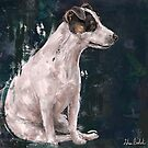 A Grungy Painting of a Jack Russell Terrier by ibadishi