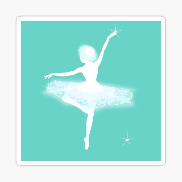 Leise tanzende Schneeflocke I Sticker