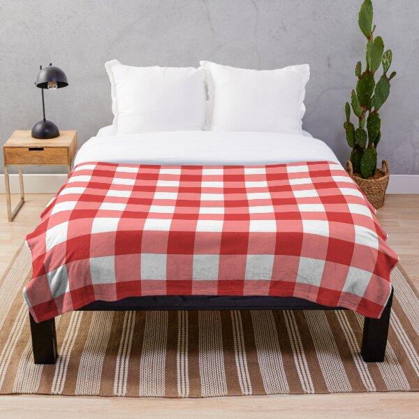 Italian checkered tablecloth Throw Blanket