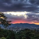 Kyoto City during sunset by aaronchoi