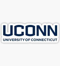 uconn university of connecticut Sticker