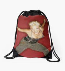 P!nk Is Happy Drawstring Bag