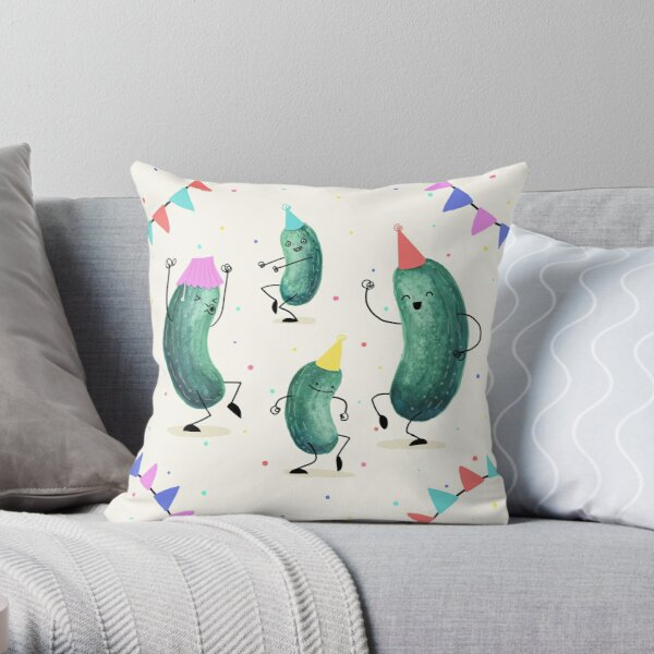 Pickle Party! Throw Pillow