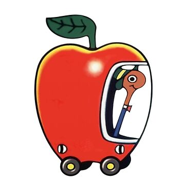 Lowly the Worm and His Apple Car by thepinecones