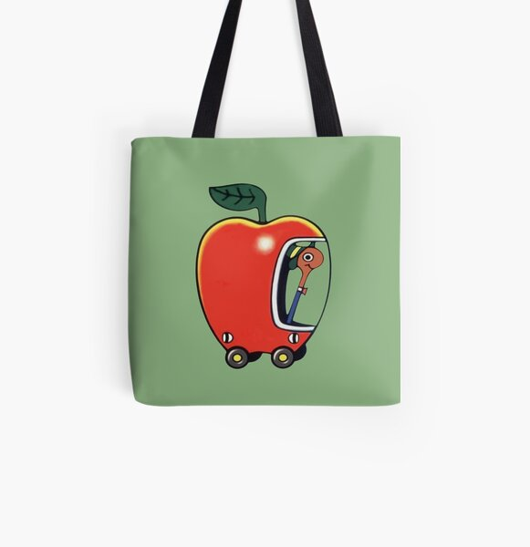 Lowly the Worm and His Apple Car All Over Print Tote Bag