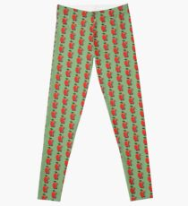 Lowly the Worm and His Apple Car Leggings