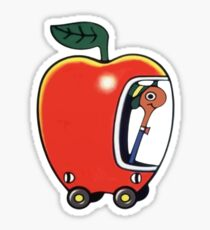Lowly the Worm and His Apple Car Sticker