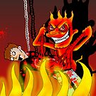 Mr Nasty enjoys torturing in hell by stitchgrin