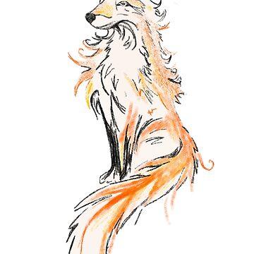 Fox - oil painting by Uwaki