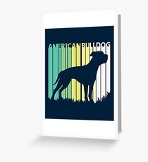 Cute American Bulldog Silhouette Greeting Card