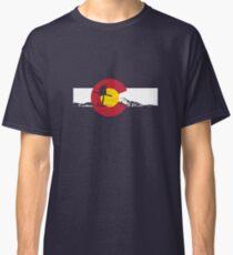 Skier - Colorado Flag - Iron Cross Classic T-Shirt