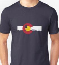 Skier - Colorado Flag - Iron Cross Unisex T-Shirt