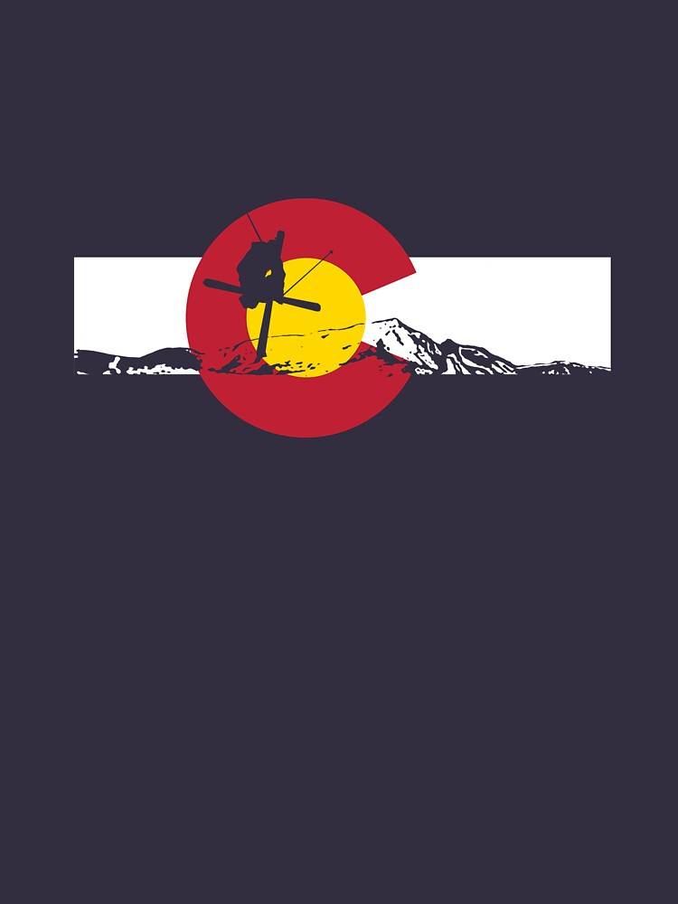 Skier - Colorado Flag - Iron Cross | Unisex T-Shirt