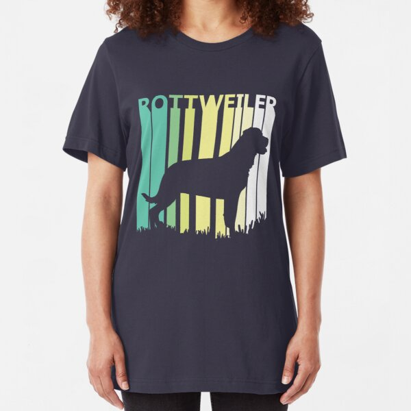 Cute Rottweiler Silhouette Slim Fit T-Shirt